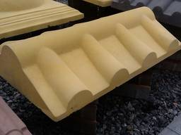 Крышка, накрывка парапет бетонный Черепица 500х310