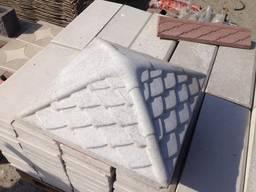 Крышка, накрывка парапет бетонный Чешуя 450х450