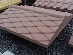 Крышка, накрывка парапет бетонный Чешуя 500х450