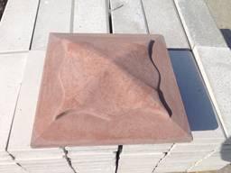 Крышка, накрывка парапет бетонный Медуза 450х450