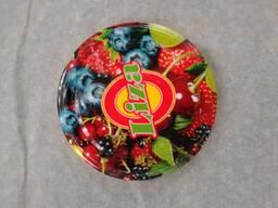 Крышка закаточная Твист полноцвет, Liza, 20 шт, фрукты