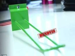 Крючки для экономпанелей  зеленые 250 мм