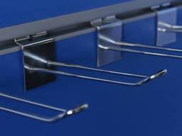 Крючки для экономпанелей двойные  с ценникодержателем 150 мм