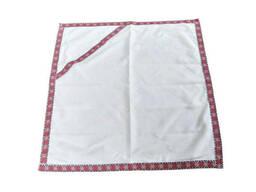 Крыжма для крещения ребенка с капюшоном на домотканном полотне