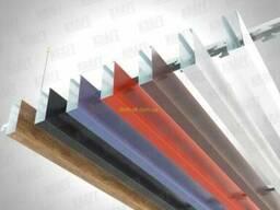 Кубообразная рейка ширина профиля 35 мм RAL 7024 (графит). ..