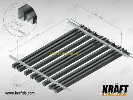 Кубообразная рейка ширина профиля 88 мм RAL 8017. ..