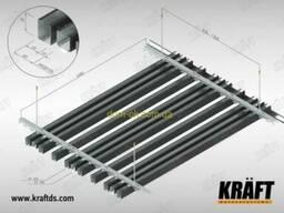 Кубообразная рейка ширина профиля 88 мм RAL 8017...