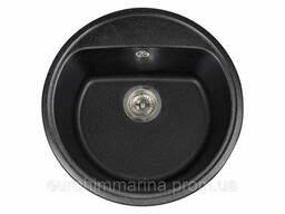 Кухонная мойка гранитная Miraggio Malibu black