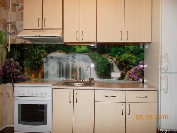 """Кухонный фартук (Скинали) с фотопечатью""""Вдопад"""""""
