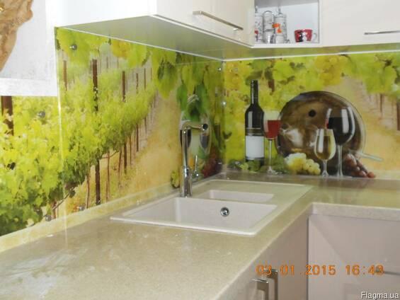 """Кухонный фартук (Скинали) с фотопечатью""""Вино"""""""