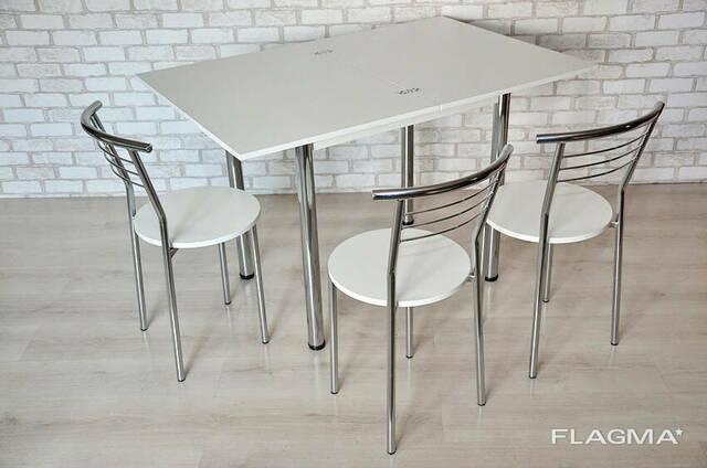 Кухонный комплект стол Тавол Ретта раскладной + 3 стула. ..