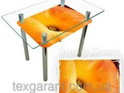 Кухонный стол стеклянный Абрикос
