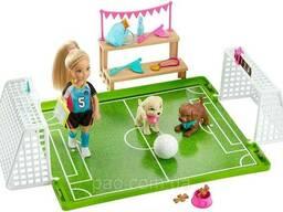 Кукла Барби Челси, набор игра в футбол с щенками, Barbie Dreamhouse Adventures Chelsea. ..