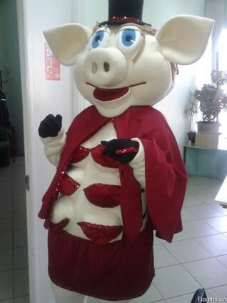 Кукла ростовая Свинка стриптизерша