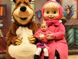 Куклы ростовые Маша и медведь
