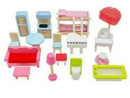 Кукольный деревянный домик «Вилла Савона» + 2 куклы, 3 этажа с мебелью и аксессуарами