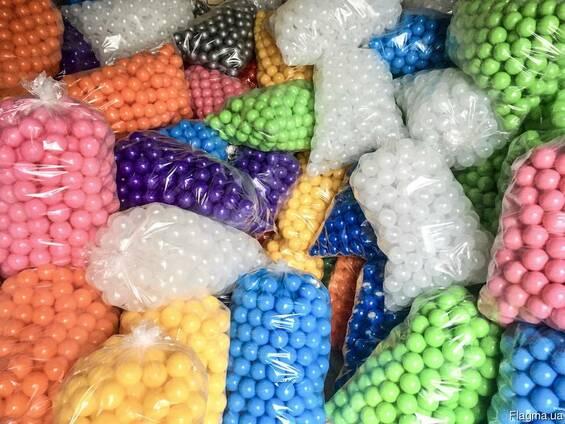 Кульки для сухих басейнів 8 см, шарики, мячики детские