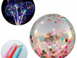 Кульки повітряні MK 2075-5 BOBO, на палиці, мішура, мікс. ..