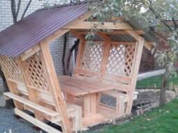 Купить деревянную беседку в Харькове