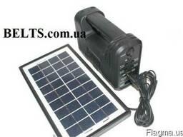 Купить.Фонарик GD-8038 с аккумулятором, солнечной батарей, 4