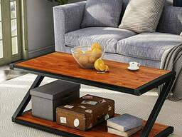Купить грубый журнальный столик для гостинной комнаты в стиле лофт
