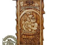 Купить картину в баню из дерева. Картина для бани сауны
