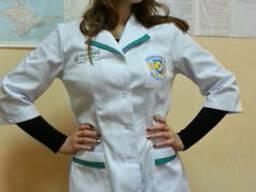 Халат, куртка медика, фармацевта, медицинская одежда модельн