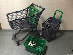 Купить Пластиковые тележки для магазина 100 литров