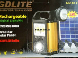 Купить. .Портативный фонарь с солнечной батареей и 3 лампочка