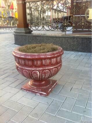 Купить садово - уличные вазоны из бетона - заводские цены.