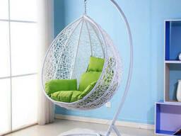 """Крісло кокон з ротангу """"Мері"""" Колір ротанга і колір подушки будь від виробника"""