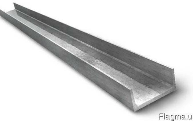 Швеллер стальной (ст.3) 10П, 10У.