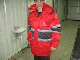Куртка- аляска со светоотражающей лентой