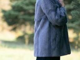 Куртка автоледи из стриженой и плюшевой нутрии