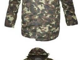 Куртка (бушлат армейский) с трикотажным воротником