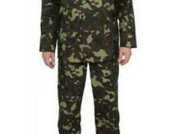Куртка и брюки камуфлированные рабочие из ткани рип-стоп