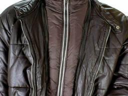 Куртка кожаная с подстежкой Coutudi коричневая