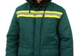 Куртка мужская Урал зимняя с мех. воротником т-зелёная