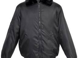 Куртка охранника зимняя черная, модель Пилот