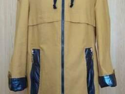 Куртка плащ женская Николь (44-54) с капюшоном, доставка...