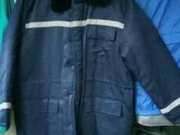 Куртка рабочая на синтепоне Альпы, тк.грета, СВП полосы