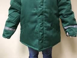 Куртка рабочая утепленная зеленого цвета с свп