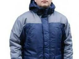Куртка, рабочая, удлиненная, прямая, мужская, зимняя