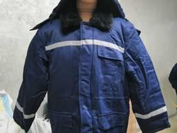 Куртка зимняя с капюшоном на синтепоне, рабочая куртка с всп