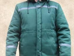 Куртка рабочая утепленная зеленая с СВП
