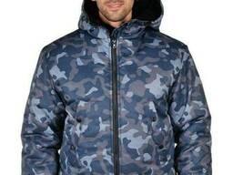 Куртка рабочая зимняя камуфляж Alases размер 60-62, рост 182-188 BLUE