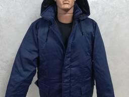Куртка рабочая зимняя ткань грета синяя