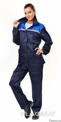 Куртка с брюками женские, рабочий женский костюм
