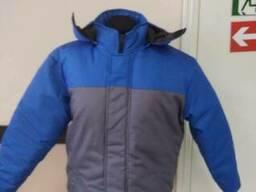 Куртка серо-синяя мужская