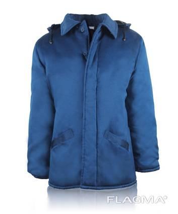 Куртка рабочая утепленная синтепоном с капюшоном